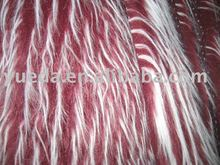 Jacquard long pile plush fabric