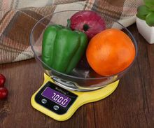 High Precision Mini 5kg*1g 3kg*0.1g Platform Electronic Food Kitchen Scale Weighing bowl