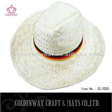 natural straw hat white cowboy hats promotional gift