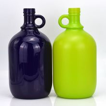 customized colored glass gallon spirits liquor jug with screw cap