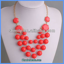 Wholesale 2013 Arcylic Beads Fashion Statement Necklaces PBN-074I