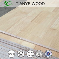 Rubber wood finger join timber board provide Chinese plate factory