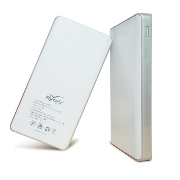 Wholesale 8000 Mah 2USB Output Interface Mobile Power Capacity Universal Power Bank With USB 3.0 Quick Charge