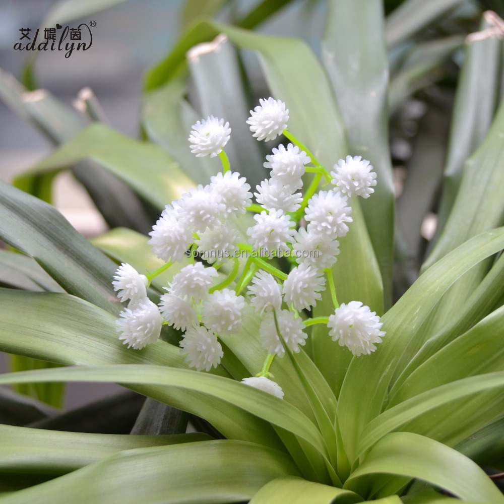 White Baby Breath Heads Artificial Flowers for Wedding Decoration Event