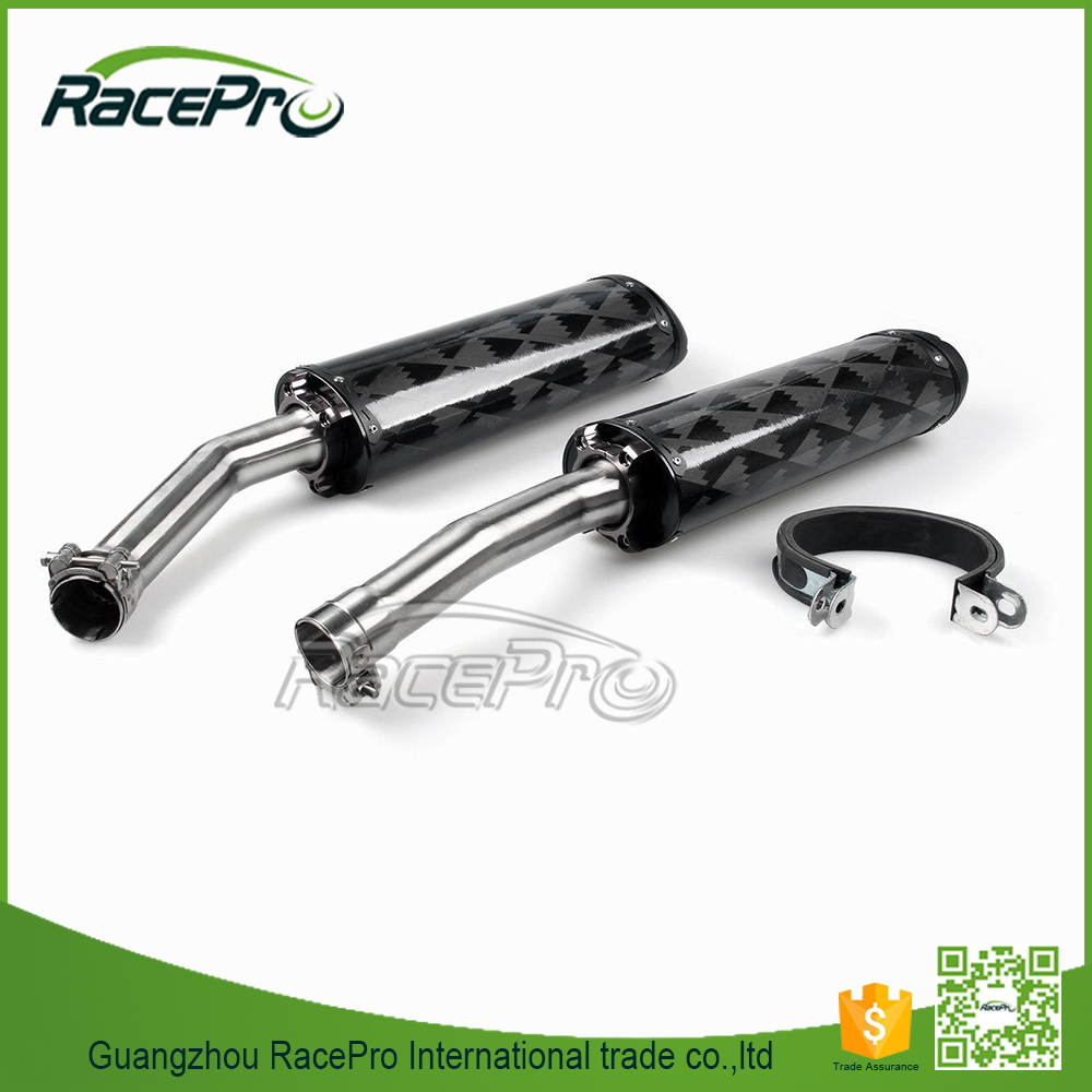 Carbon Fiber Dual Silencer Exhaust Muffler Motorcycle for Yamaha YZF R1 2007-2008