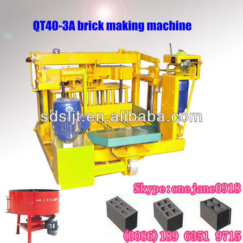 2013 new products!QT40-3A block making equipment without wood pallet distributor