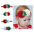 Santa Claus Flower Cartoon Christmas Elastic Hair band Headbands