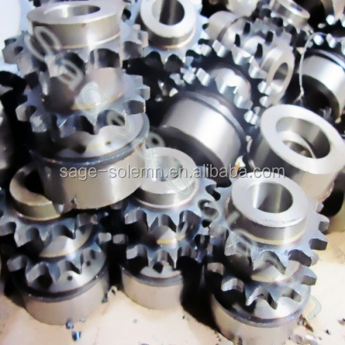 Steel Double Row Chain Sprocket / Machinery Double Chain Sprocket