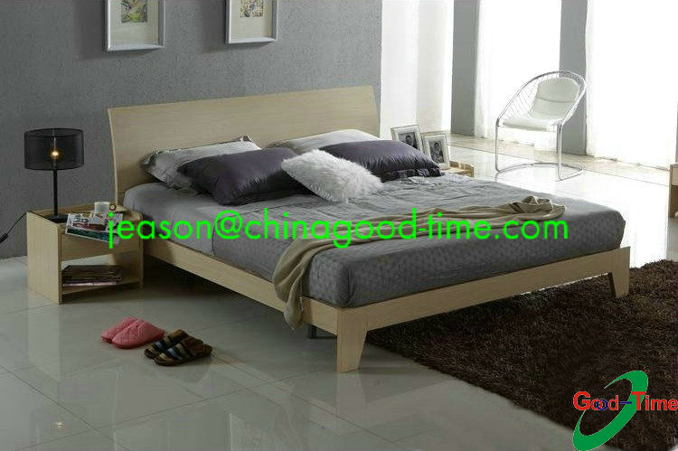 children wooden double bed designs/KD wooden bed
