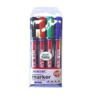 Permanent markers Mercury PM 70 4 pcs in box Blue Black Red Green colors