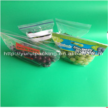 Export to Mexico grapes packaging bag/Plastic bag for supermarket or fruit shop/Perforated plastic bags for grapes with ziplock