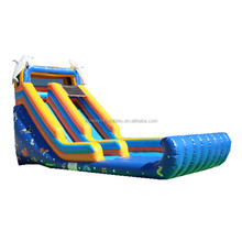 Dolphin style backyard cheap inflatable water slides for sale W4016