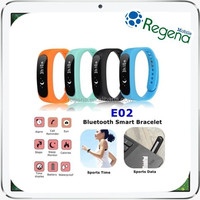 2015 Healthy Life Intelligent Wearable Bracelet E02 Bluetooth Smart Sports Wristband
