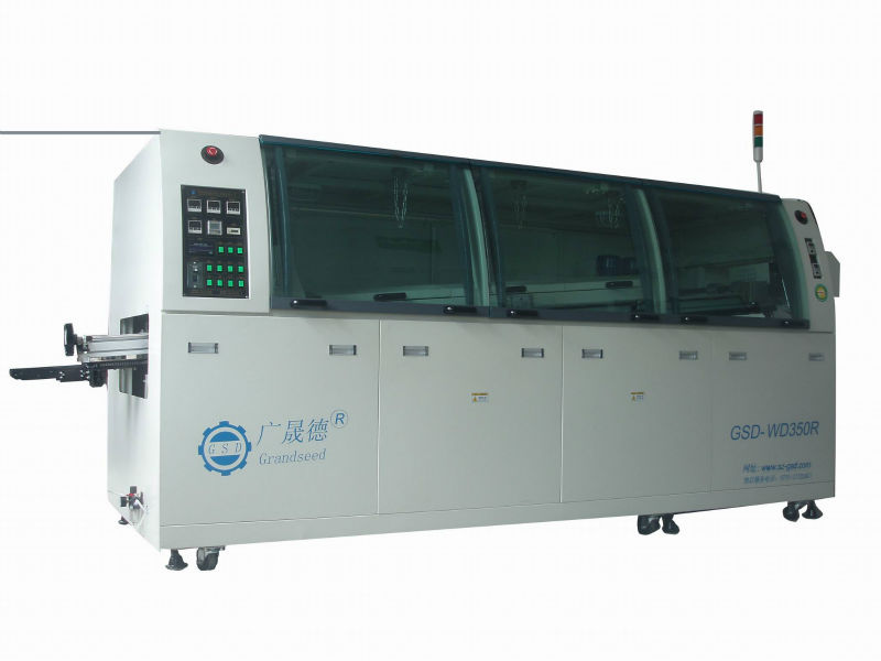 GSD-WD350R large size DIP lead free SMD wave solder machine price,To be the best manufacturers in china