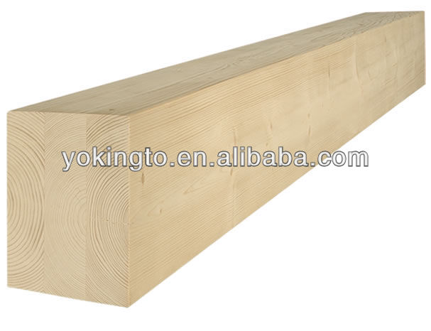 Pine wood glued laminated board scantling 3-ply wood beam