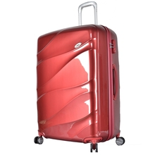 Red Luggage Popular PC Aluminum Frame Protective Cover Luggage