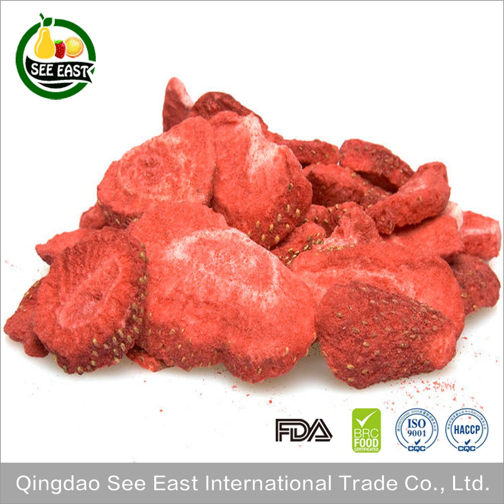 ISO Certified companies manufacturers lyophilized fruit freeze dried strawberries
