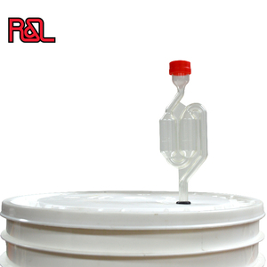 Air Locker with red cap S-Shape Double Bubble Airlock for Wine Making and Beer Making Homebrew