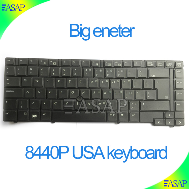 Computer repairing replacement keyboard For HP EliteBook 8440p 8440w 594052-001 594052001(big enter)