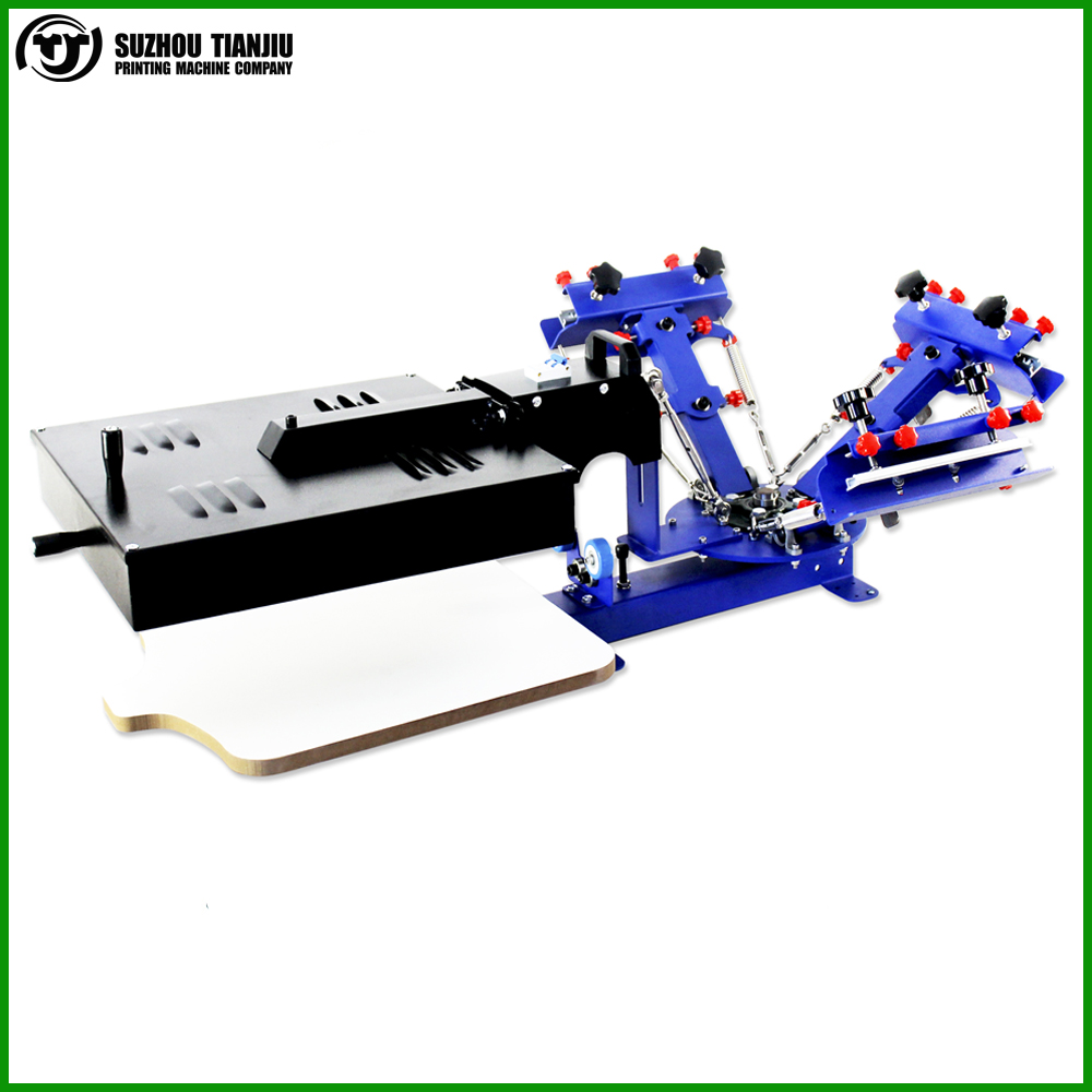 Desktop Manual 3 color 1 station T shirts Ink Screen Printing Machine