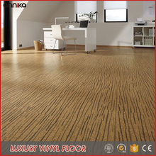 Poplar Aspen Grain Apyrous Gym Use PVC Floor vinyl Tile