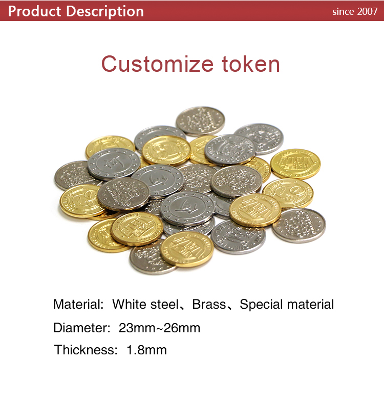 LK002 Cheap custom token coins for game machine washing machine