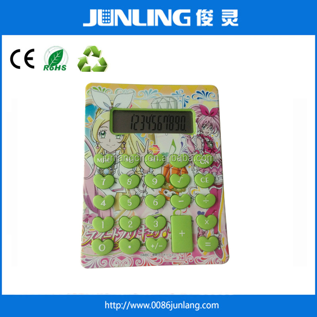 10 Digit Colorful Painting Heart Shaped buttons Calculator