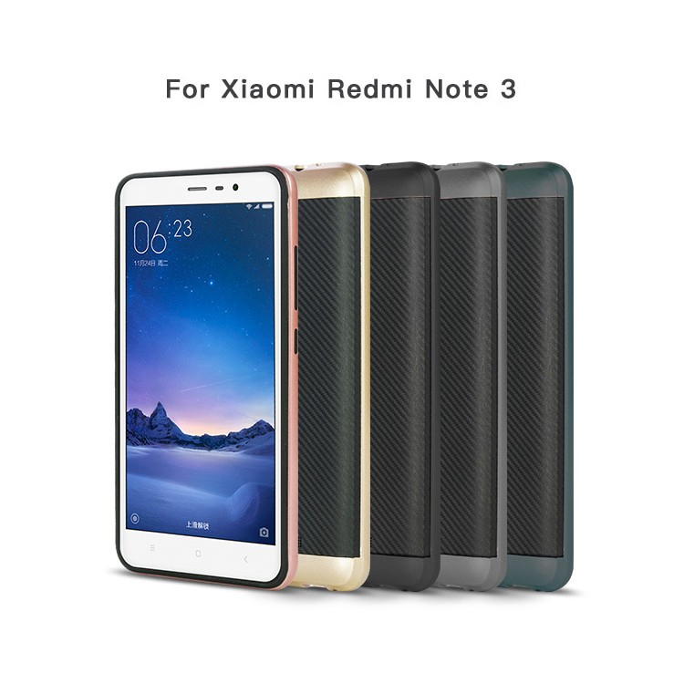 2 in 1 Hybrid Rubber Rugged Shockproof Phone Case For Xiaomi Redmi Note 3