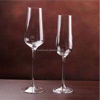 High white material Lead-free glass elegant goblet Wedding Gift cheap champagne flute glass cup Toast Champagne Flute