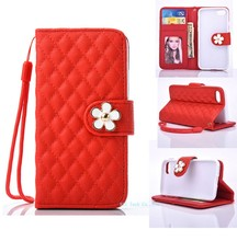 for iPhone 7 case Daisy skin Pearl Flower leather Wallet Stand Smart Cell phone case for iphone 7 plus