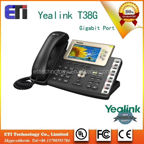 SIP-T38G AC Voip IP phone 6 VoIP accounts sip gateway