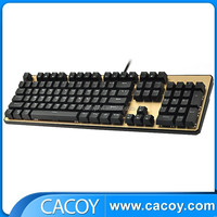 Wholesale popular aluminum alloy mechanical wired backlit keyboard