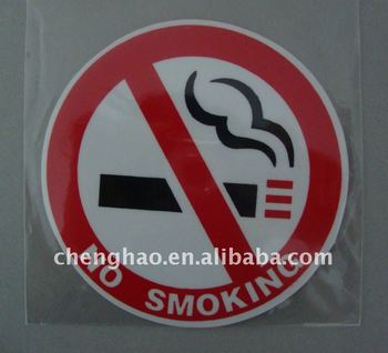 pvc no smoking car label