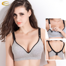 Ecoach Wholesale OEM Fashion Design Sleep Breastfeeding bra Cotton Comfortable Maternity nursing bra