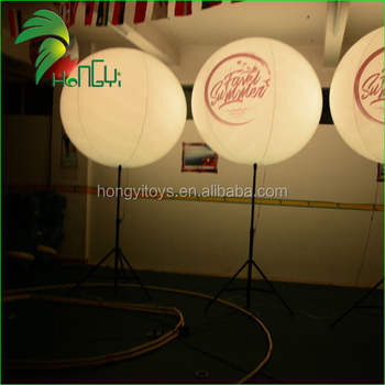 Customized Inflatable Stand Light Balloon / Outdoor Inflatable Remote Control led Light Balloon
