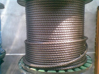Galvanized steel wire rope 6x37 with oil