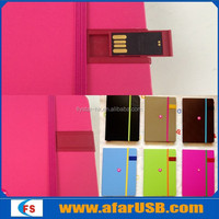 New fashion multifunctional leather notebook USB flash drive 2.0 notebook stick memory usb pendrive notebook