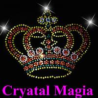 2015 colorful strass hotfix rhinestone motif transfer princess iron on design