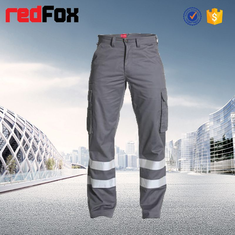 safety new brand mens cargo pants with many pockets with pockets
