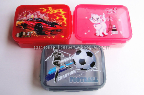 Personalized PP plastic insulated tiffin lunch box