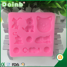 2017 factory price custom 3D animal shaped fondant silicone molds for cake decorating baking tools ST2810