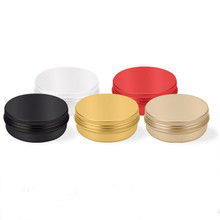 Wholesale 2oz Round Small Aluminum Tin Box with Screw Lids for Cosmetic Cream Candy Mint