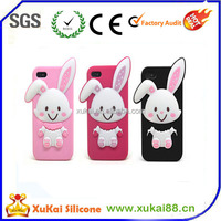 Rabbit ear silicone mobile phone case with cheap prce
