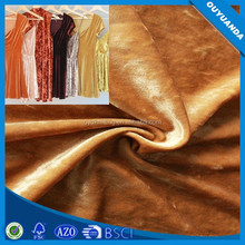 Crushed Velvet Fabric for Fashion Garments,Shoes,Bags