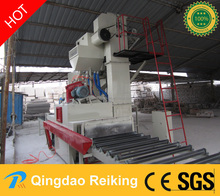 Marble stone through type surface cleaning shot blasting machine