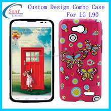 fashion mobile phone design case silicon pc combination for lg optimus L90
