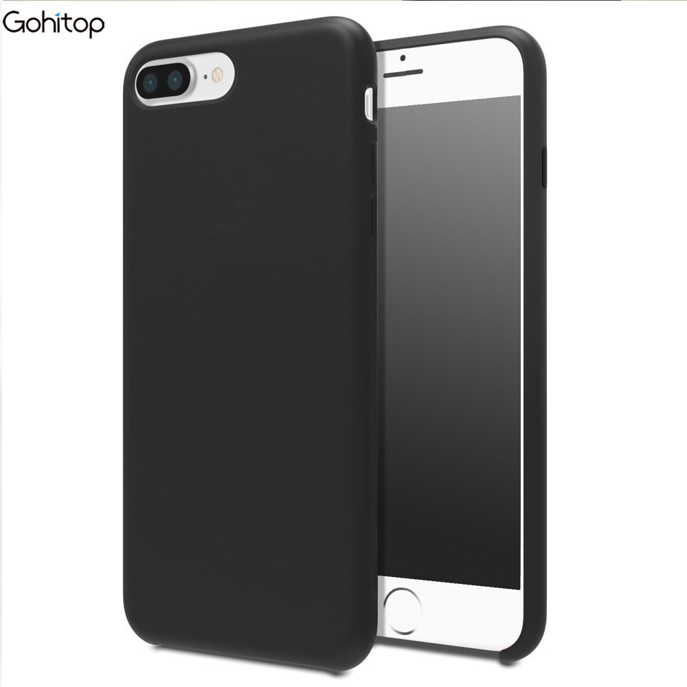 for iPhone 7 Case, Simple Color TPU Leather Back Cover for iPhone 7
