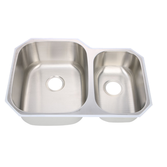 60/40 undermount kitchen stainless steel sink in standard size