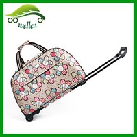 Fancy travel bag cheap promotional 2 wheels wheeled duffel bags