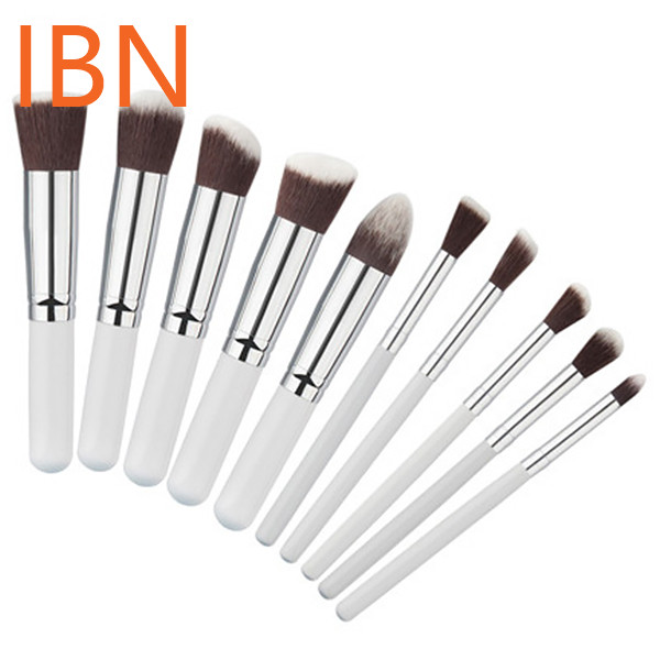 Make Up Brushes with Brush Holder 10pcs High Quality Makeup Tools Kit
